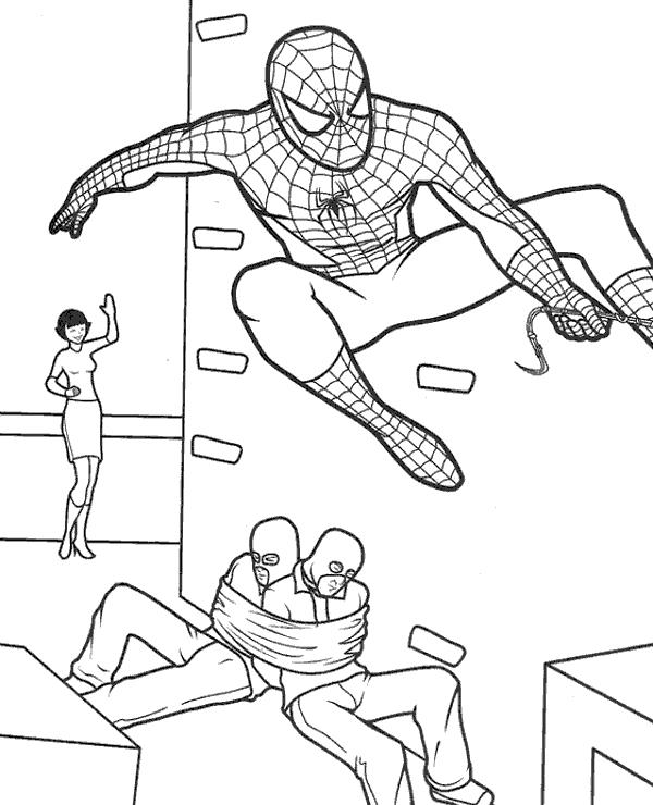spiderman para colorear 36