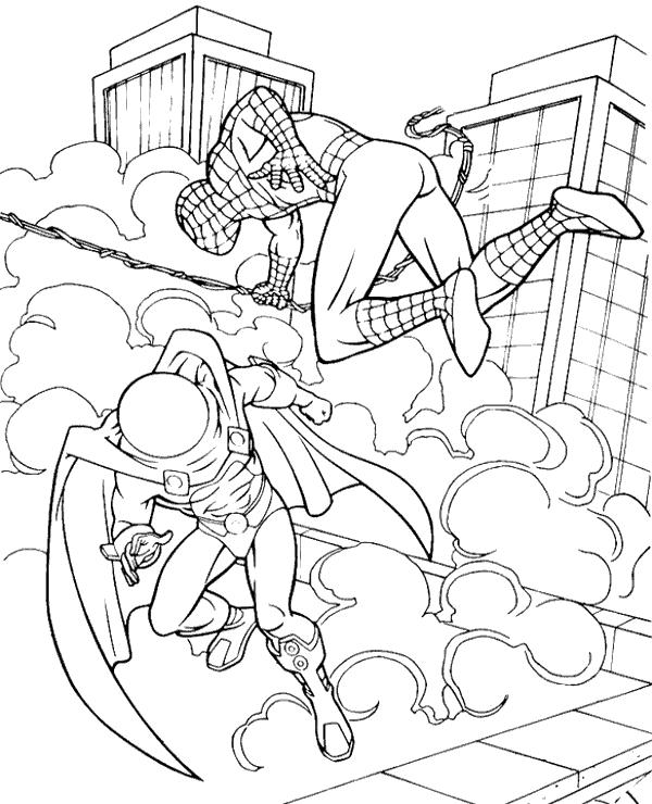 spiderman para colorear 38