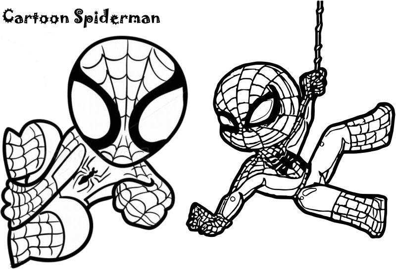 spiderman para colorear 8