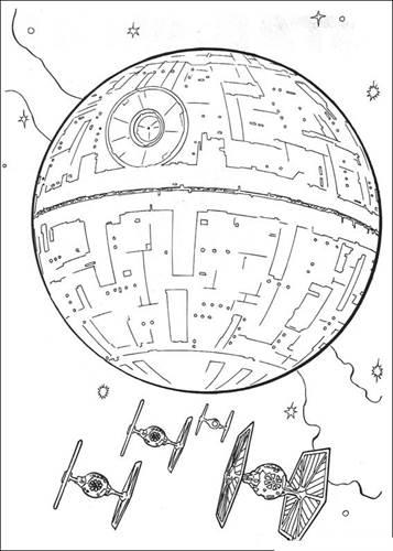 star wars para colorear Estrella de la muerte