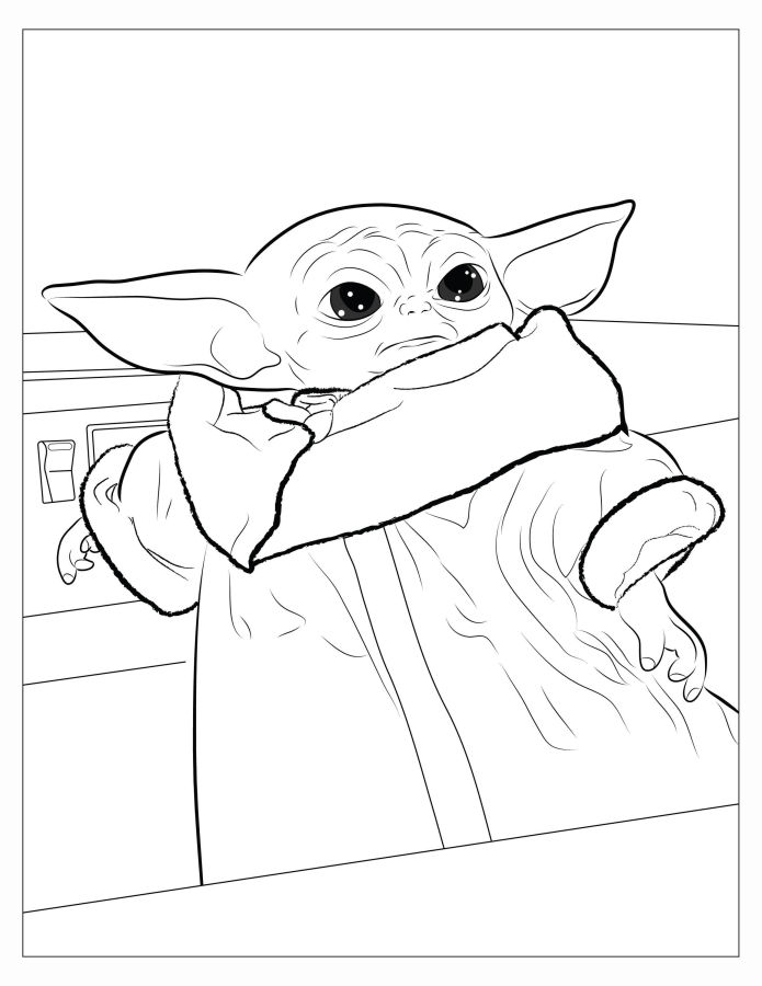 star wars para colorear baby yoda