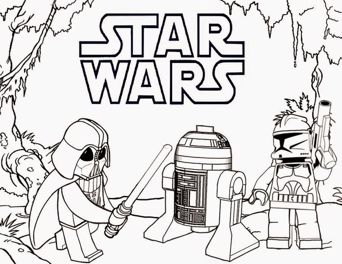 star wars para colorear darth vader y r2d2 lego