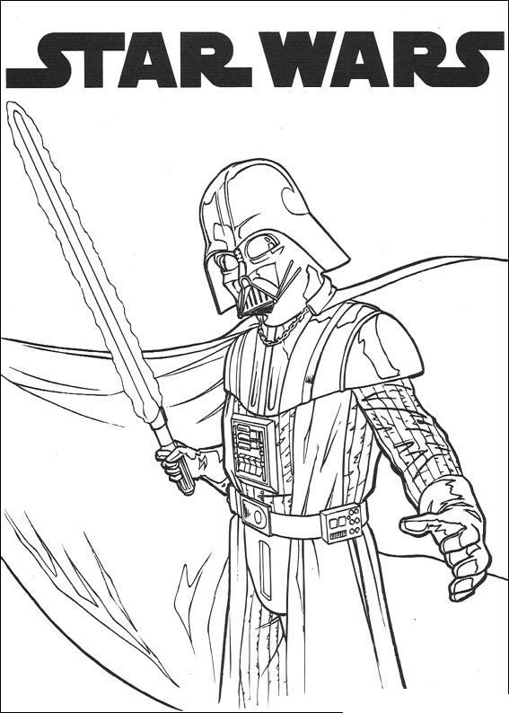 star wars para colorear darth vader
