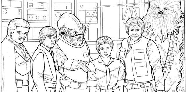 star wars para colorear personajes clasicos