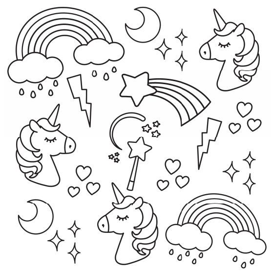unicornios para colorear 1