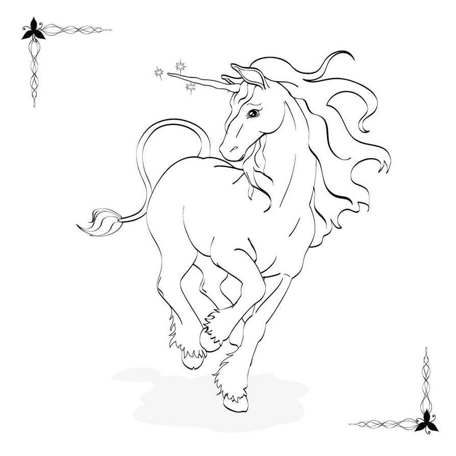 unicornios para colorear 10