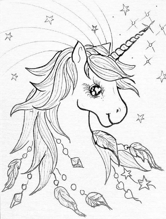 unicornios para colorear 15