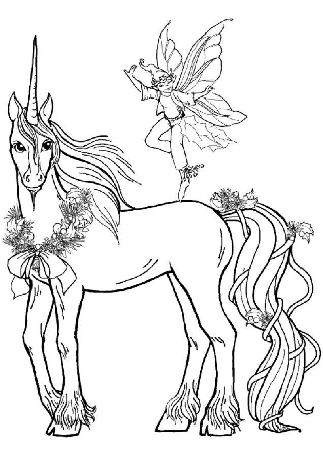 unicornios para colorear 17