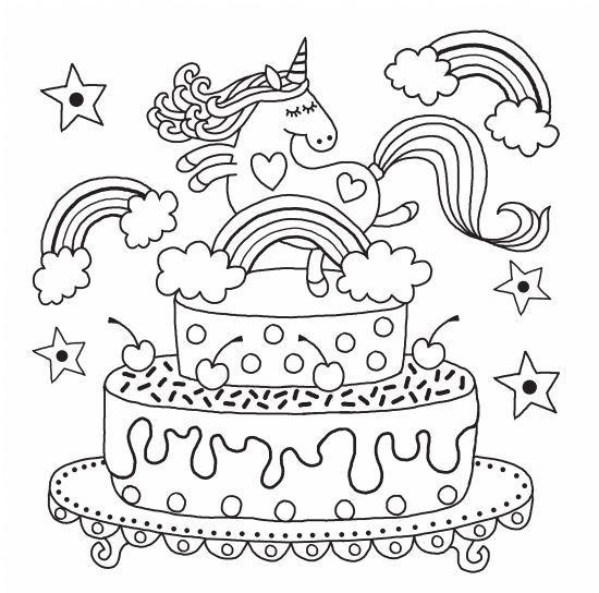unicornios para colorear 2