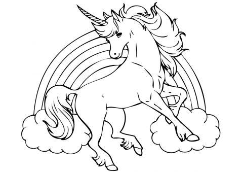 unicornios para colorear 22