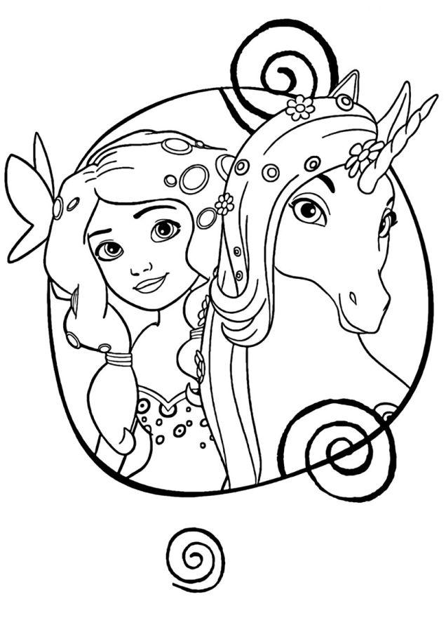 unicornios para colorear 24 unicornio con princesa