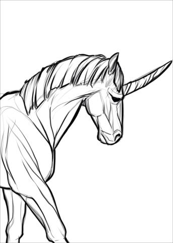 unicornios para colorear 28