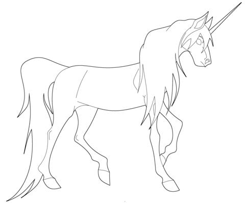 unicornios para colorear 32