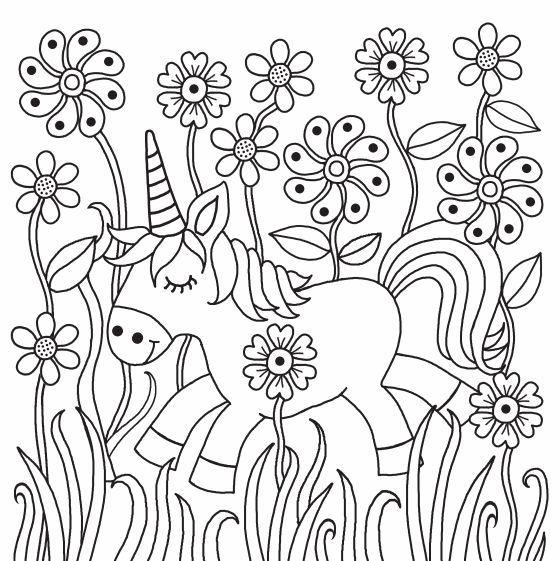 unicornios para colorear 4