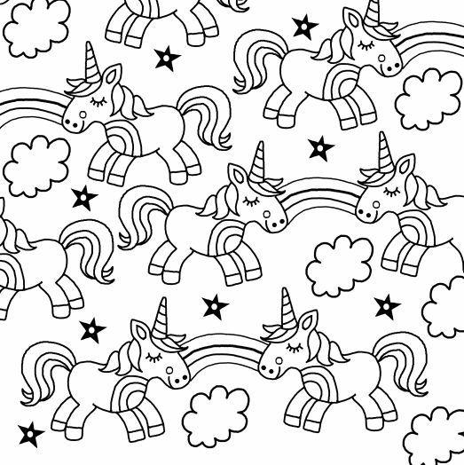 unicornios para colorear 5