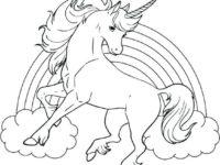unicornios para colorear 7