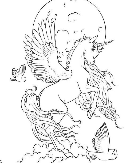 unicornios para colorear 8