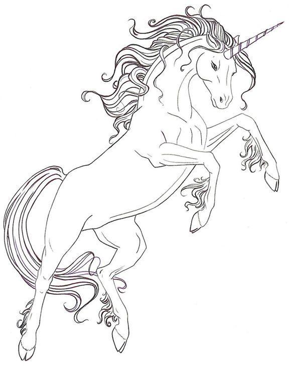 unicornios para colorear 9