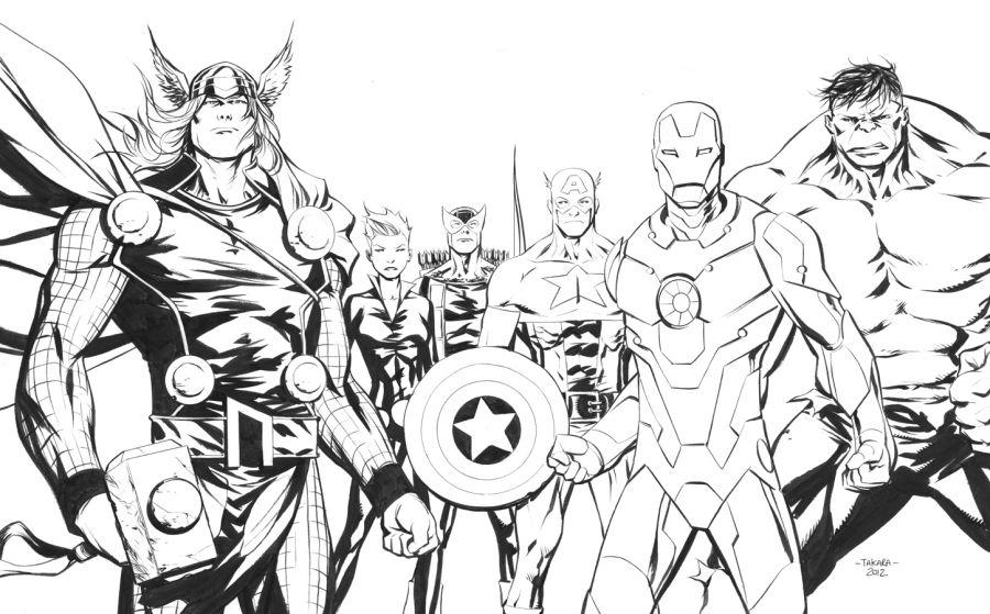Dibujos De Vengadores Para Colorear Colorear24com