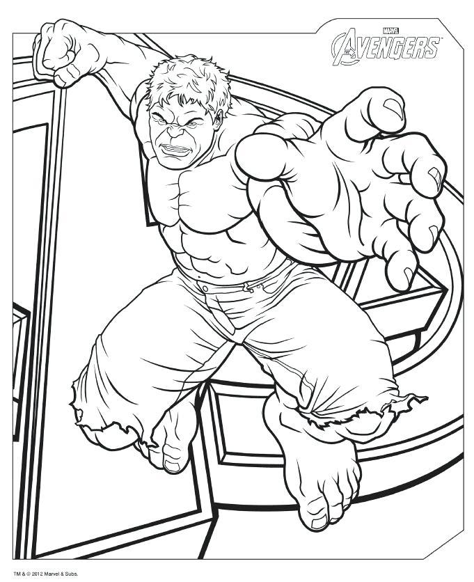 vengadores para colorear 8 hulk