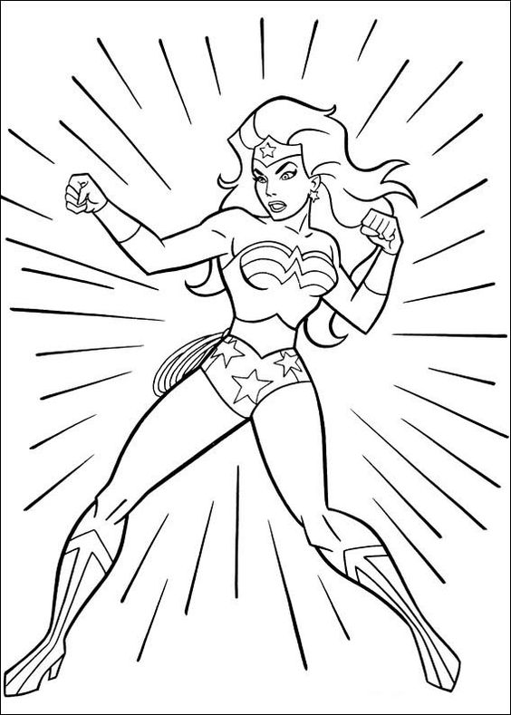 wonder woman para colorear 16