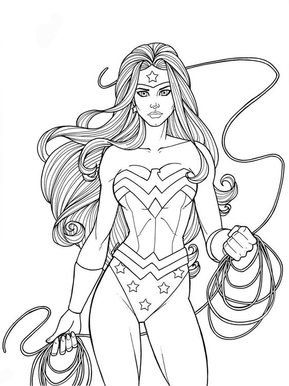 wonder woman para colorear 17