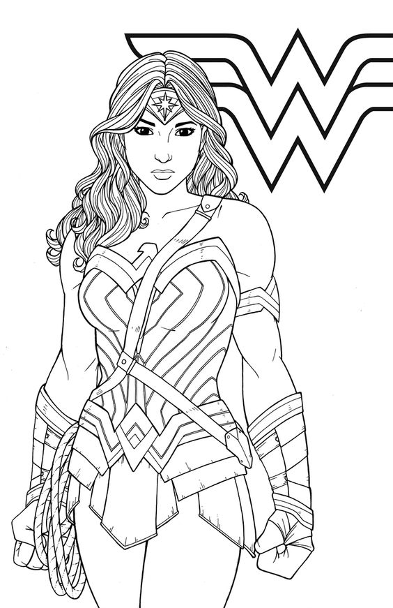 wonder woman para colorear 22