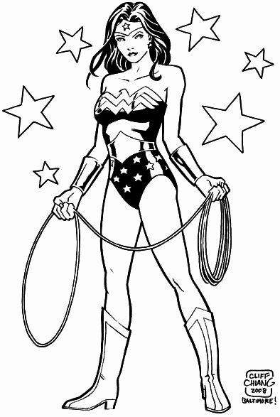 wonder woman para colorear 5