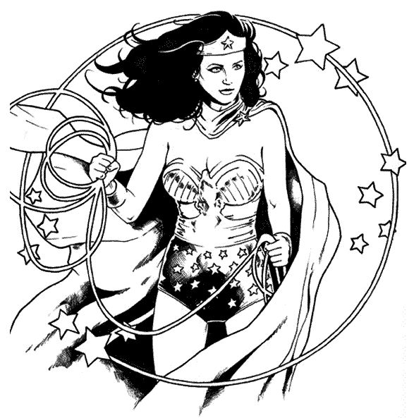 wonder woman para colorear 7